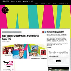 Most Innovative Companies - Advertising & Marketing