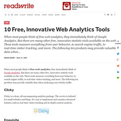 10 Free, Innovative Web Analytics Tools