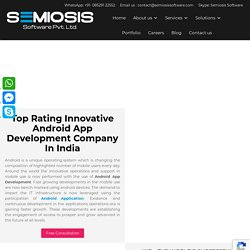 Innovative Android App Development Company In India