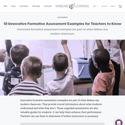 10 Innovative Formative Assessment Examples for Teachers to Know – Wabisabi Learning