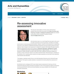 Re-assessing innovative assessment