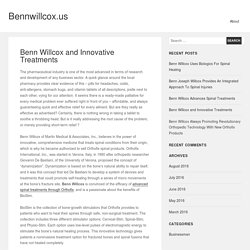 Benn Willcox and Innovative Treatments