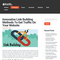 Innovative Link Building Methods To Get Traffic