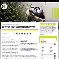 Nike: The No. 1 Most Innovative Company Of 2013
