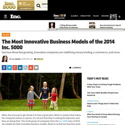 Inc. 5000: The Most Innovative Business Models of 2014