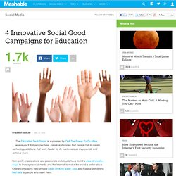 4 Innovative Social Good Campaigns for Education