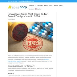 Innovative Drugs That Have So Far Been FDA-Approved in 2020