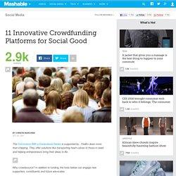 11 Innovative Crowdfunding Platforms for Social Good
