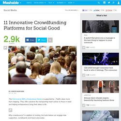 11 Innovative Crowdfunding Platforms for Social Good