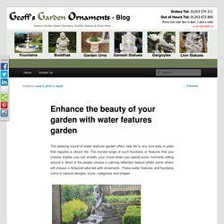 Excellent water features for your garden