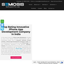 Innovative iPhone App Development Company In India