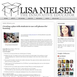 Creating a plan with students to use cell phones for learning