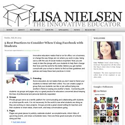5 Best Practices to Consider When Using Facebook with Students