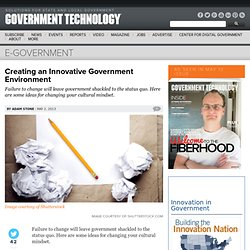 Creating an Innovative Government Environment
