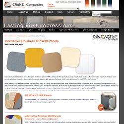 Innovative Finishes frp Panels