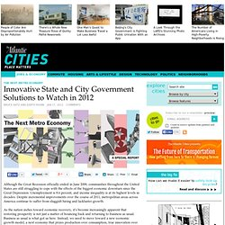 Innovative State and City Government Solutions to Watch in 2012 - Jobs & Economy