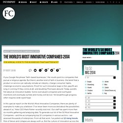 The World's Most Innovative Companies 2014