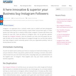 Make innovative & superior your Business buy Instagram Followers