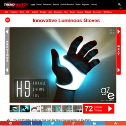 Innovative Luminous Gloves : H9 Portable Lighting Tool