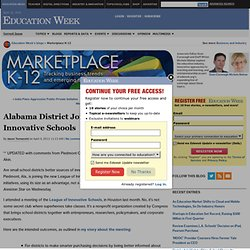 Alabama District Joins League of Innovative Schools - Marketplace K-12