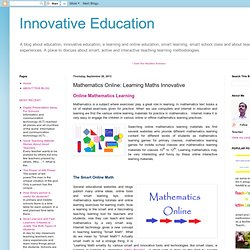 Innovative Education: Mathematics Online: Learning Maths Innovative