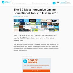 32 Innovative (Free!) Online Educational Tools to Try in 2015