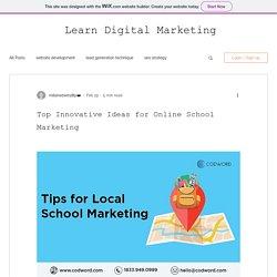 Top Innovative Ideas for Online School Marketing