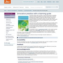 Innovative practice with e-learning guide