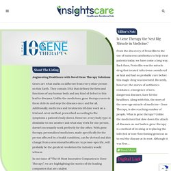 The 10 Most Innovative Companies in Gene Therapy September2019