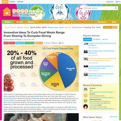 Innovative Ideas To Curb Food Waste Range From Sharing To Dumpster Dining Kids News Article