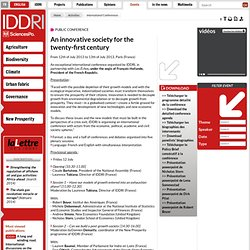 An innovative society for the twenty-first century