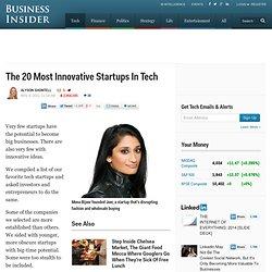 20 Innovative Startups