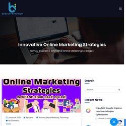 Online Innovative Marketing Strategies Backup Infotech