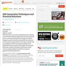 CSS: Innovative Techniques and Practical Solutions - Smashing Magazine
