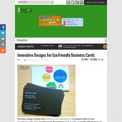 Innovative Designs For Eco-Friendly Business Cards