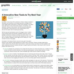 4 Innovative New Tools to Try Next Year