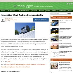 Innovative Wind Turbine From Australia