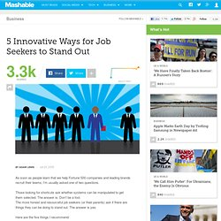 5 Innovative Ways for Job Seekers to Stand Out