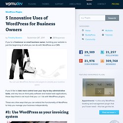 5 Innovative Uses of WordPress for Business Owners