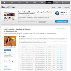 SpanishPod101.com - Download free podcast episodes by LanguagePod101.com on iTunes.
