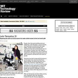 Innovator Under 35: Leila Takayama, 31