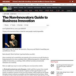 The Non-Innovators Guide to Business Innovation