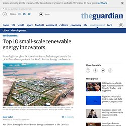Top 10 small-scale renewable energy innovators