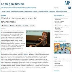 Webdoc : innover aussi dans le financement