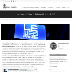 Innover en France : Mission Impossible