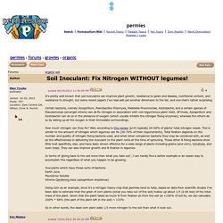 Soil Inoculant: Fix Nitrogen WITHOUT legumes! (organic forum at permies)