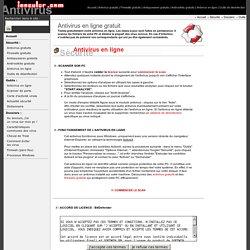 Antivirus en ligne gratuit