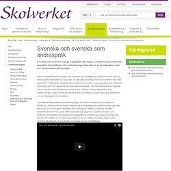 Sex- och samlevnadsundervisning inom ämnet Svenska och Svenska som andraspråk