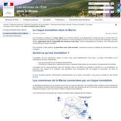 Le risque inondation dans la Marne -Les services de l'État dans la Marne