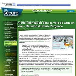 Alerte! Inondation dans la ville de Crue en Vue – Réunion du Club d'urgence
